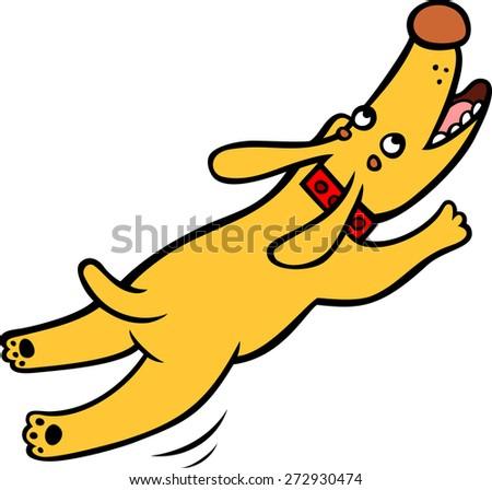 Jumping dog - stock vector