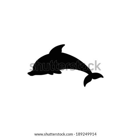 Jumping Dolphin - stock vector