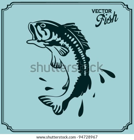 Jumping Fish - stock vector