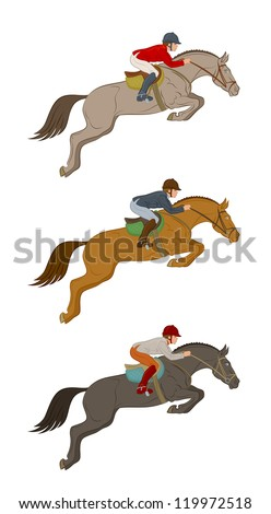 Jumping horse - stock vector