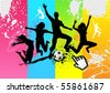 Jumping into Life. vector illustration. - stock vector
