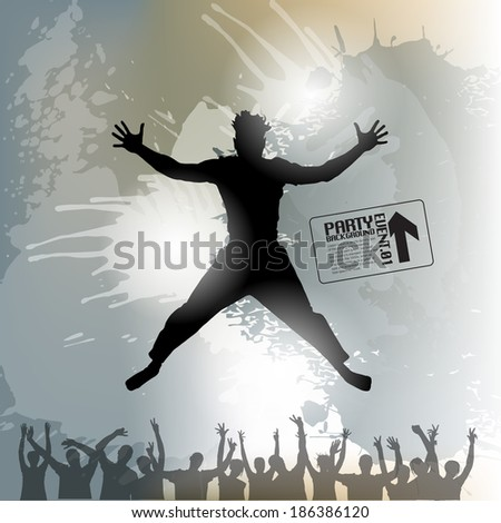 Jumping Man Background - stock vector