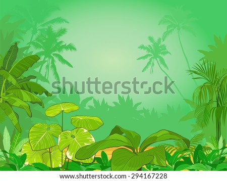 Jungle - stock vector
