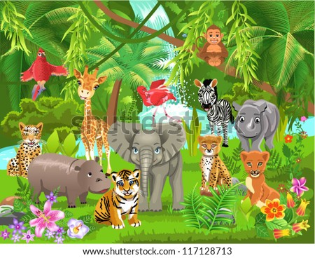 Jungle Animals Stock Images, Royalty-Free Images & Vectors ...