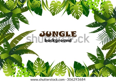 jungle. background. vector illustration. - stock vector
