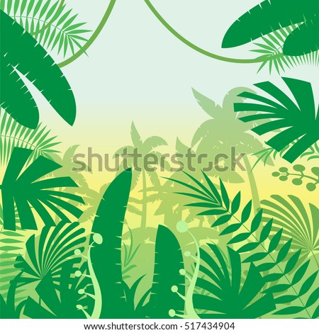 Jungle Flat Background