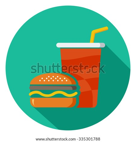 junk food icon  - stock vector