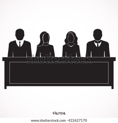 Jury icon  icon Isolated on White Background - stock vector