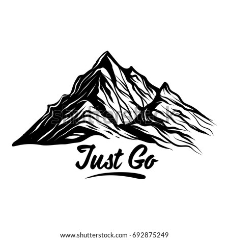 just go mountain vector design element stock vector 2018 692875249 rh shutterstock com mountain vector free download mountain vector art