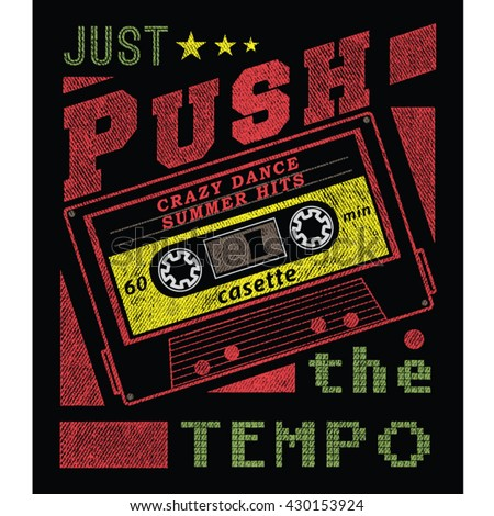 just push tee graphic
