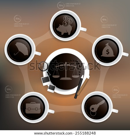Justice and business design on blur background,clean vector - stock vector