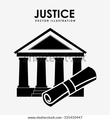 justice and law design, vector illustration eps10 graphic