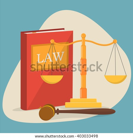 Justice background - stock vector