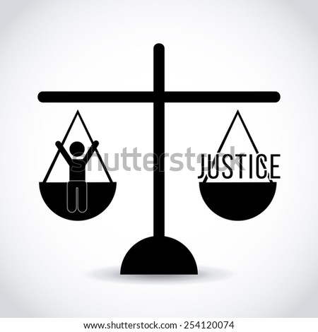 justice concept design, vector illustration eps10 graphic