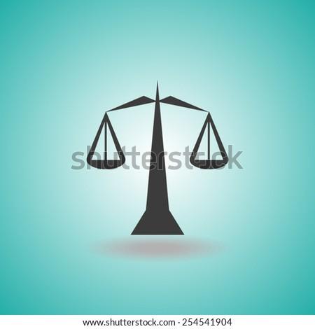 justice icon - stock vector