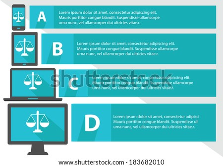 Justice scale concept,Banners,Blue version,vector - stock vector