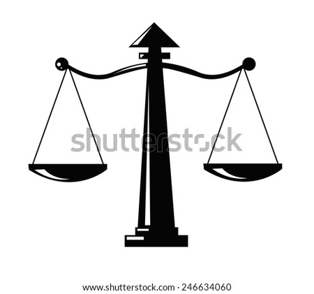 Justice scale icon  - stock vector