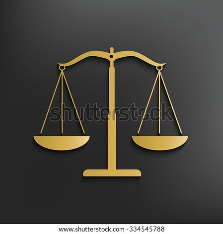 Justice scale on dark background,clean vector - stock vector