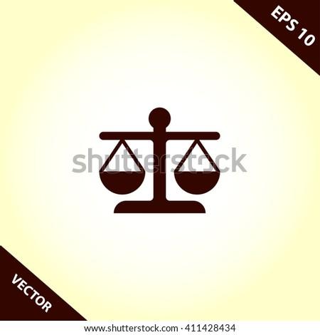 justice scales icon. justice scales vector illustration  - stock vector