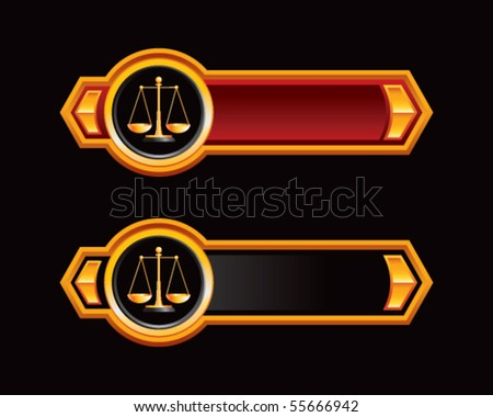 justice scales red and black arrows