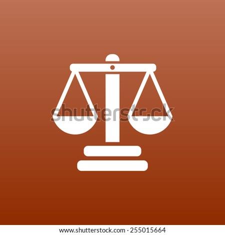 justice vector icon vector symbol measurement balance - stock vector