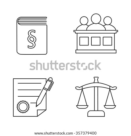 Justice vector icons - stock vector