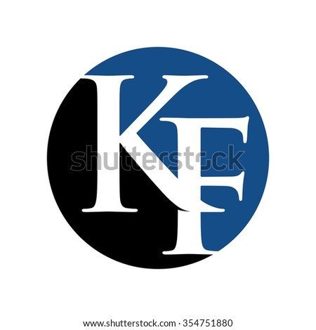 k and f logo vector