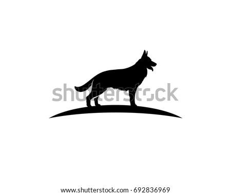 k 9 dog training center logo stock vector 692836969 shutterstock rh shutterstock com german shepherd logo