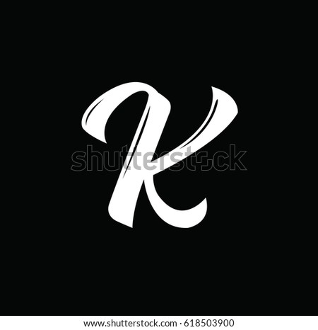 K Letter Text Design Vector Calligraphy Typography Poster Usable As Background