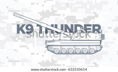 K9 thunder blueprint stock vector 632550614 shutterstock k9 thunder blueprint malvernweather Image collections