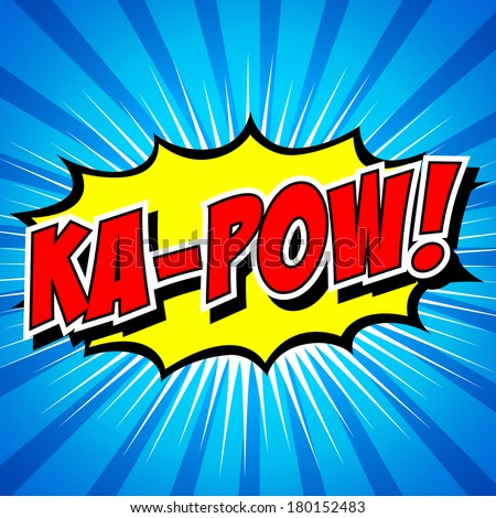 Ka pow comic speech bubble cartoon