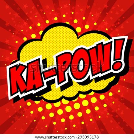 Ka-Pow! Comic Speech Bubble, Cartoon - stock vector