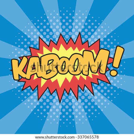 KABOOM! Wording Sound Effect for Comic Speech Bubble - stock vector