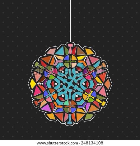 Kaleidoscope chandelier  - stock vector