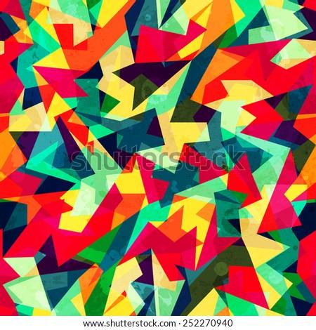 kaleidoscope colored seamless pattern - stock vector