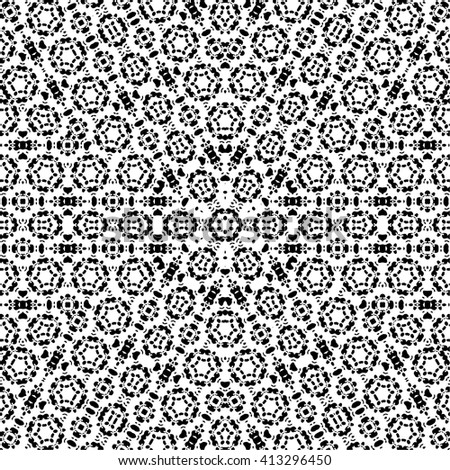 Kaleidoscope geometric black and white pattern. Abstract background. Vector illustration