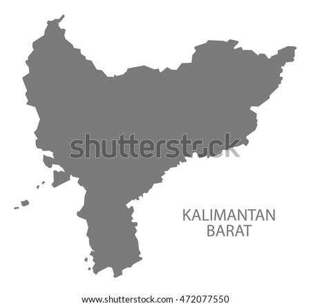 Kalimantan barat indonesia map grey stock vector hd royalty free kalimantan barat indonesia map in grey gumiabroncs Images