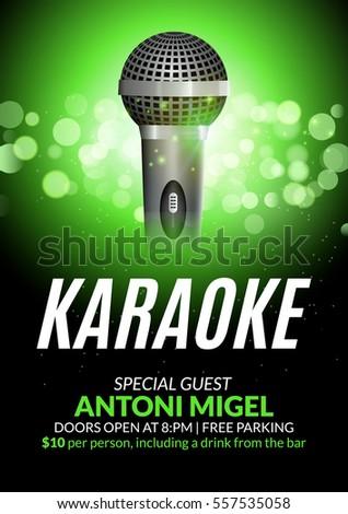 Karaoke party invitation poster design template. Karaoke night flyer design. Music voice concert & Karaoke Stockbilder und Bilder und Vektorgrafiken ohne ... Pezcame.Com