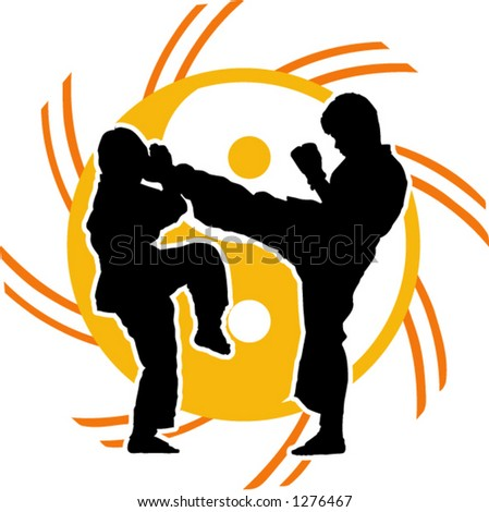 karate fighters