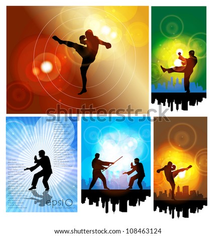 Karate illustration - stock vector