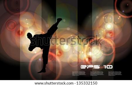 Karate. Vector - stock vector