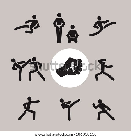 Karate. Vector format - stock vector