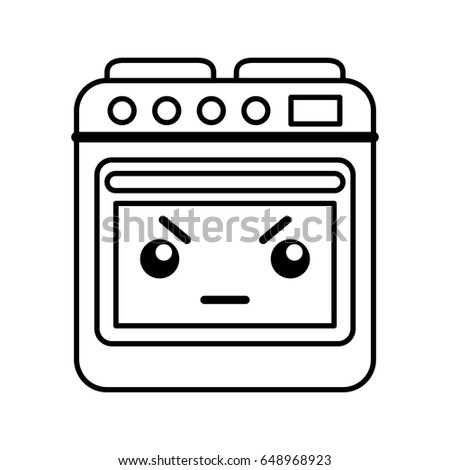 kawaii oven cartoon stock vector royalty free 648968923 shutterstock