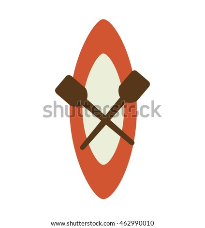 kayak boat isolated icon vector illustration design