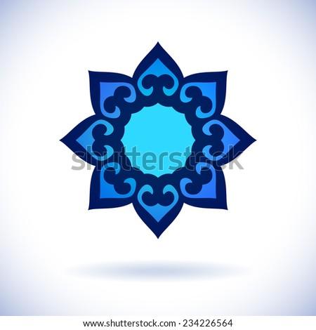 Kazakh national ornament, Isolated design element, Vector illustration - stock vector