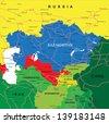 Kazakhstan map - stock photo