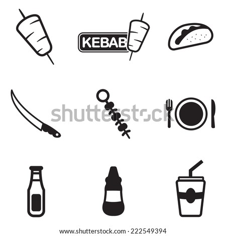 Kebab Icons - stock vector