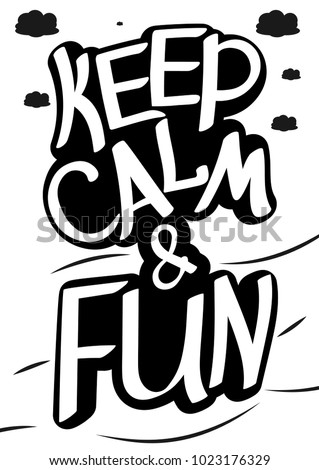 keep calm fun lettering sticker words stock photo photo vector rh shutterstock com