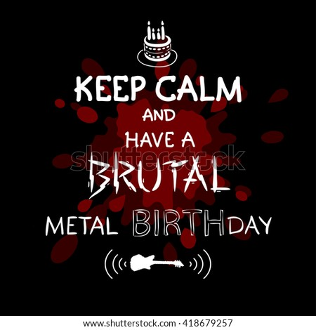 heavy metal greeting stock photos, royaltyfree images  vectors, Birthday card