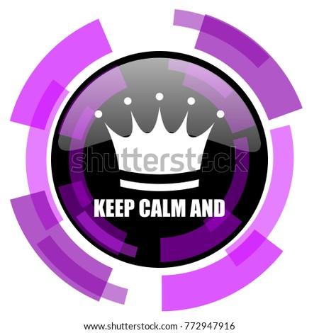 Keep Calm Pink Violet Modern Design Stock Vector 772947916